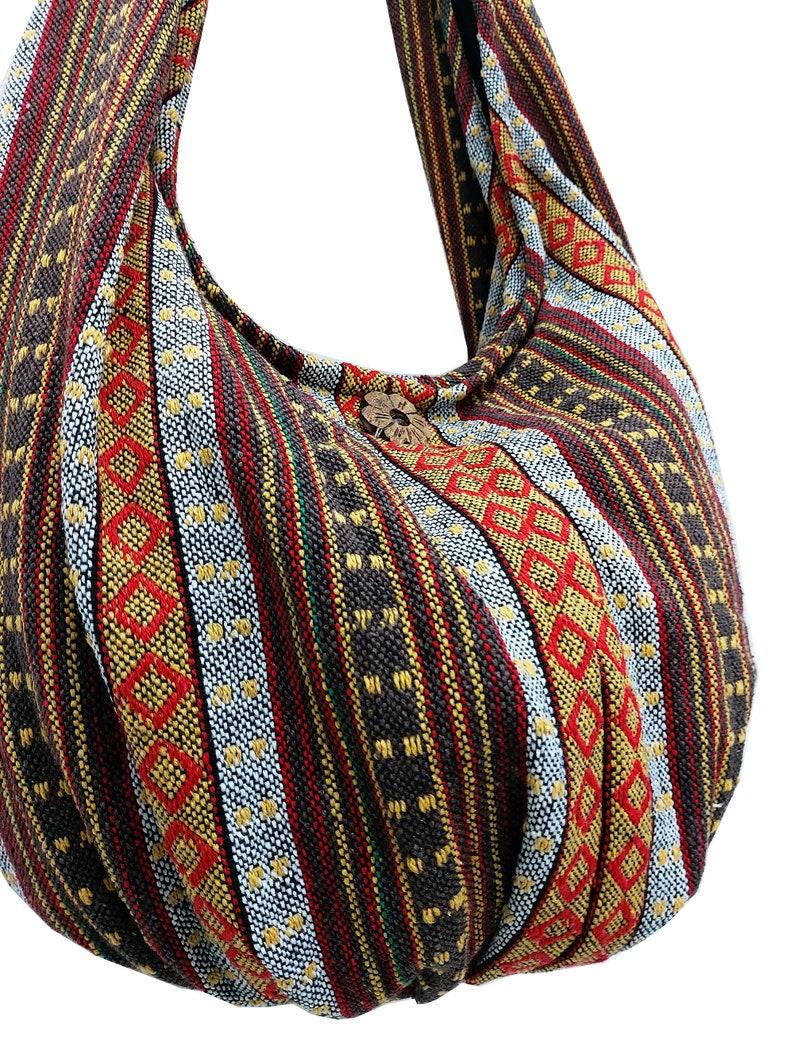 Thai Woven Bag Handbags Purse Tote Cotton Bag Hippie bag Hobo bag Boho Crossbody bag Shoulder bag Women bag Short /& Long Strap WF284