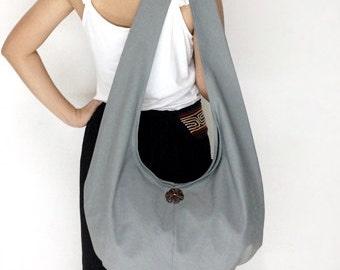 Handbags Canvas Bag Shoulder bag Sling bag Hobo bag Boho  bag Messenger bag Tote bag Crossbody Purse  Gray