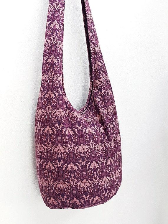 I Love Hong Kong Cotton Long Handle Sling Bag