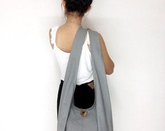 Handbags Canvas Bag Cotton bag Shoulder bag Sling bag Hobo bag Boho bag Messenger bag Tote bag Crossbody bag Purse  Light Gray