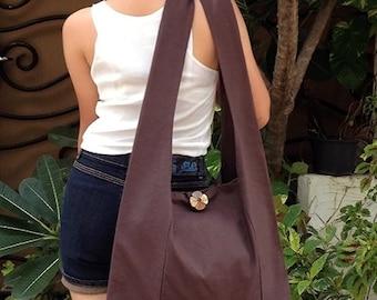 Handbags Canvas Bag Shoulder bag Sling bag Hobo bag Boho  bag Messenger bag Tote bag Crossbody Purse  Brown