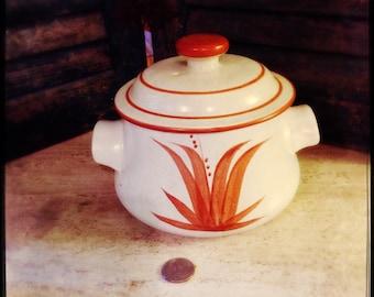 Small Tan Stoneware Casserole
