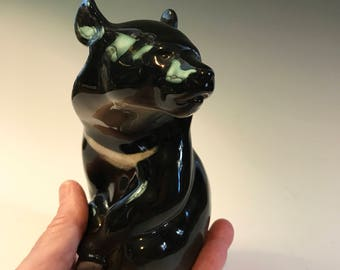 Vintage USSR Lomonosov Porcelain Himalayan Sun Bear