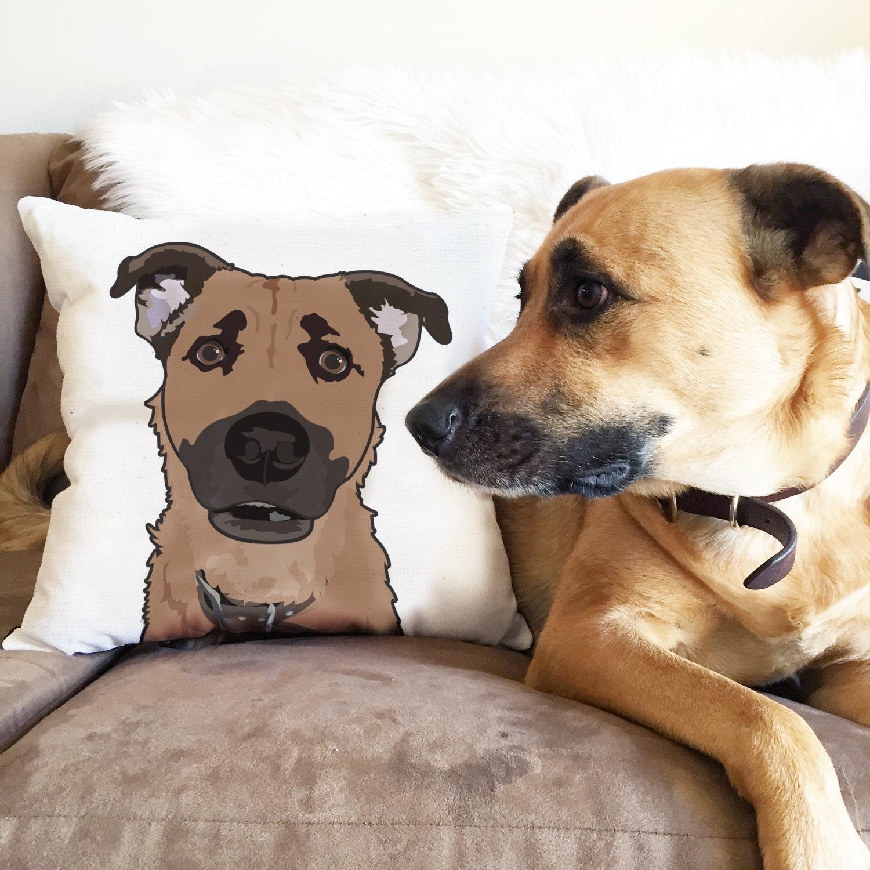 e671bb89fc5f Custom Pet Illustration Pillow/Throw Pillow/Pet Pillow/ Dog | Etsy