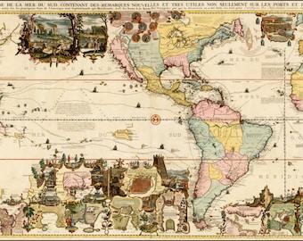 Wand Weltkarte Weltkarten Alten Karten Welt Karte Drucken Etsy