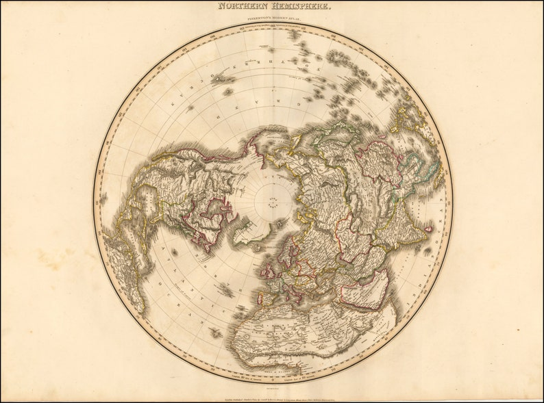 Ancient Maps Map Of The World Atlas Prints World Map Etsy
