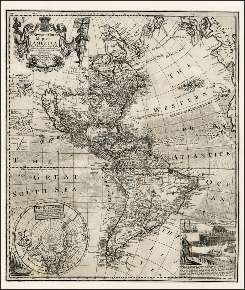 Map, World map, Antique world map, World map poster, Old World Map, Europe,  176