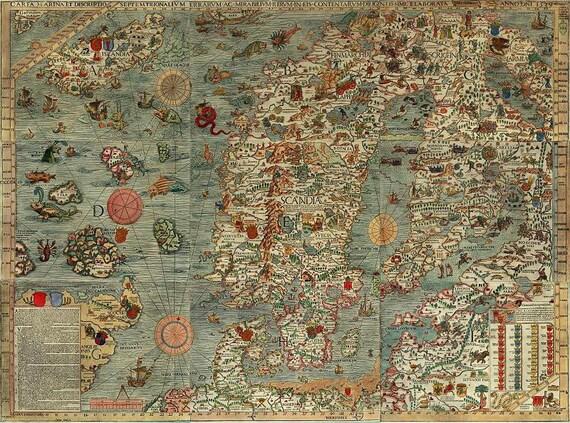 Map World map Antique world map World map poster Old World | Etsy