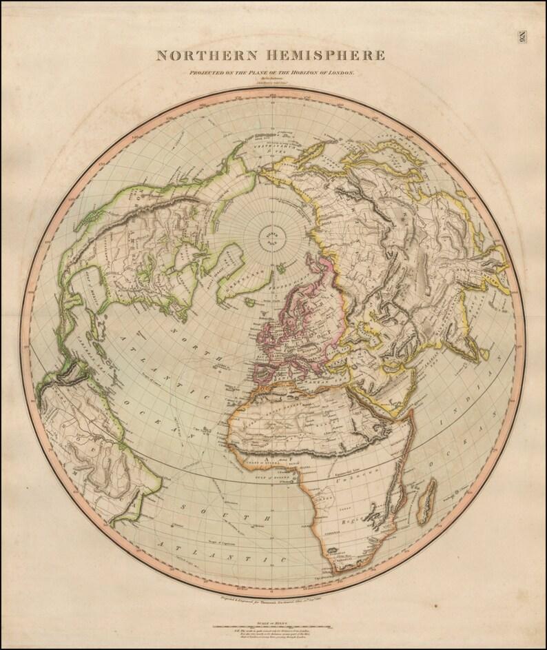 World map print Old maps World globe Ancient map Wall   Etsy