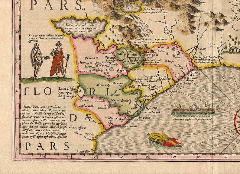 Hondius Southeas 7 Antique world maps Old World Map | Etsy on