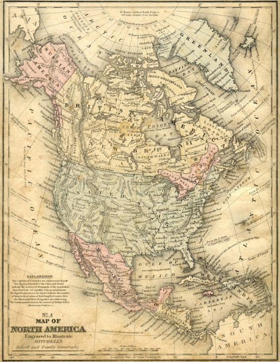 North america ancient maps atlas ancient map map of the etsy image 0 gumiabroncs Gallery