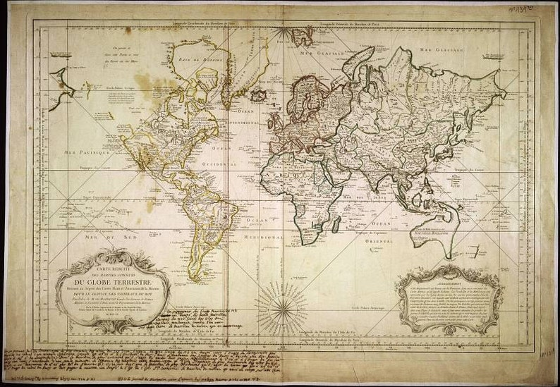 Map of the world Ancient map Old world maps 25   Etsy