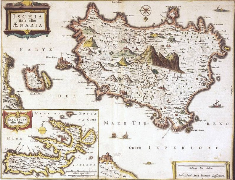 Ischia, Ancient maps, Antique world maps, Old World Map illustration  Digital Image, pole arctique, 86