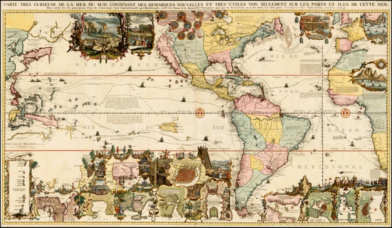 World Globe Ancient Map Old World Maps Ancient Map Poster Etsy