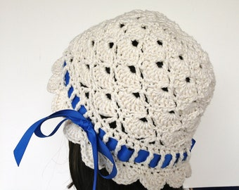 Crochet Pattern Cloche Hat, Cloche of Shells, PDF 12-088 INSTANT DOWNLOAD