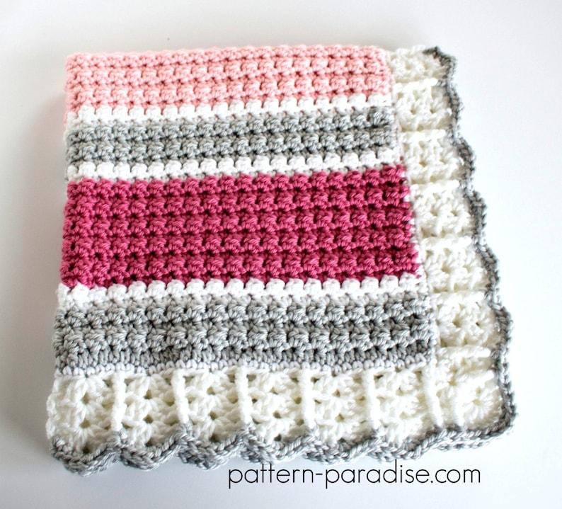 21de16fe7 Crochet Pattern Baby Blanket Afghan Throw Essentials Blanket