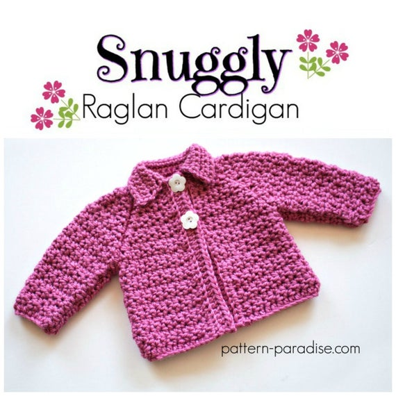 Crochet Pattern Baby And Toddler Cardigan Sweater Etsy