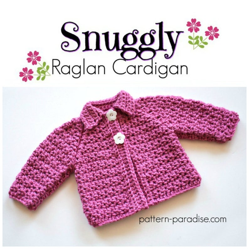 d77d7b651ca6 Crochet Pattern Baby and Toddler Cardigan Sweater