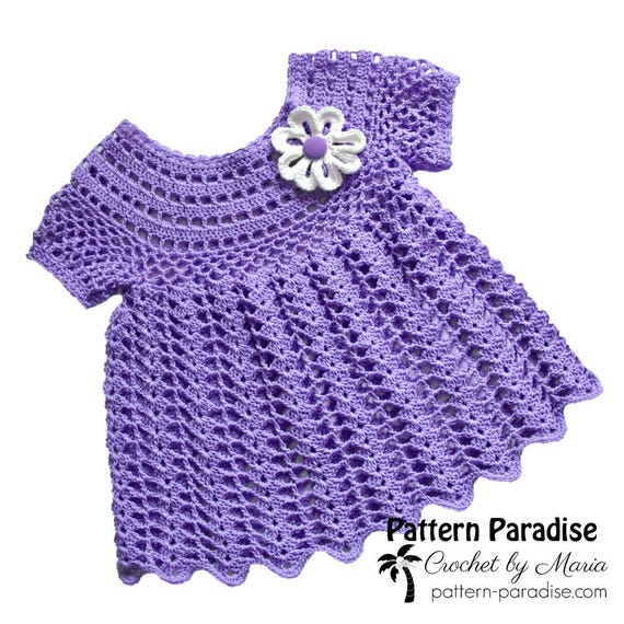 Crochet Pattern For Baby Toddler Dress Tunic Peaches And Etsy