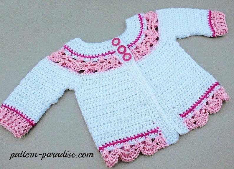 b7dd6de824b5f Crochet Pattern for Baby Toddler Sweater Jasmine PDF 12-093