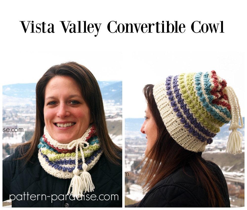 Crochet Pattern Cowl Scarf Hat Vista Valley Pdf 16 A Etsy