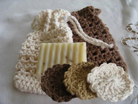 Soap Cozy Scrubbies For Bath Or Spa Crochet Pattern Etsy