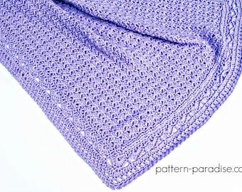 Crochet Pattern Baby Blanket Afghan Georgie PDF 17-323