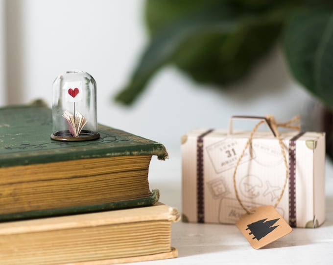 Miniature book art, I love you mini paper book