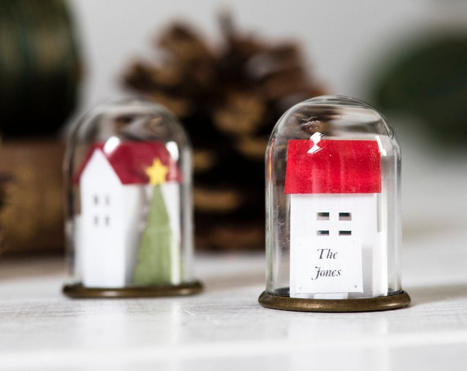 Hostess gift Christmas miniature house ornament, Christmas personalised gift