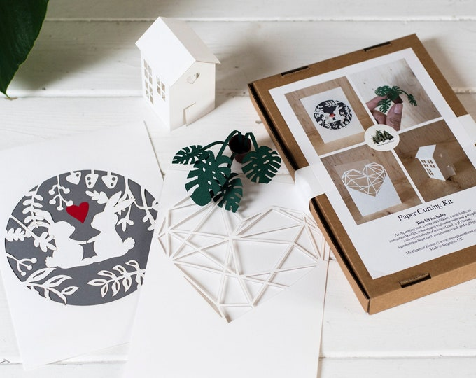 Paper craft kit for adults, DIY paper craft activity