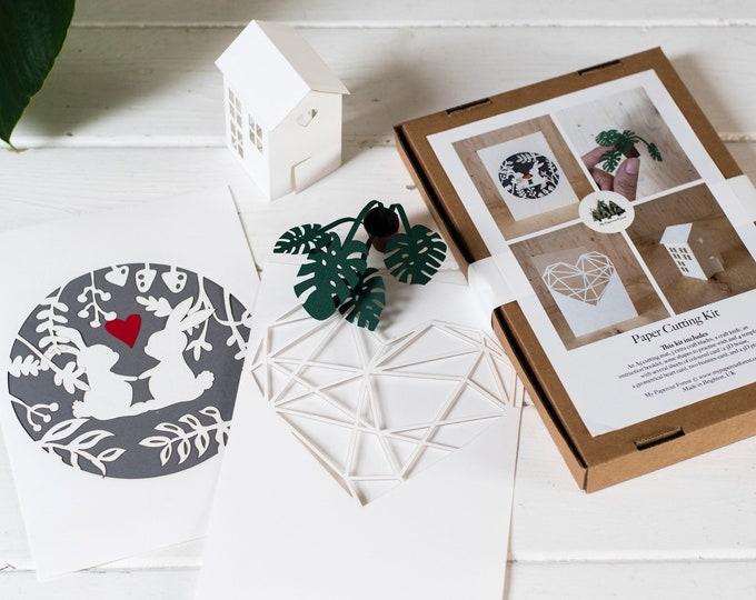 DIY craft kit paper cutting - no tools