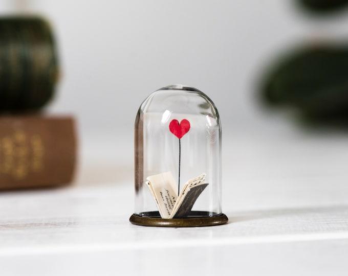 Book miniature paper art, mini book ornament