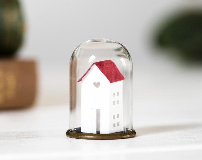 Paper house miniature ornament, paper art