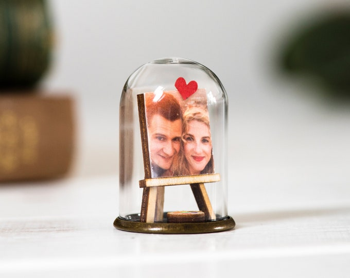 Anniversary portrait miniature ornament, personalised photo gift