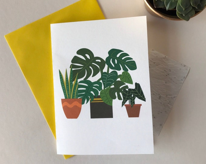 Printed seed paper plant card, card with seeds