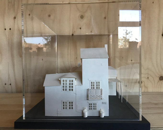 Personalised paper house sculpture