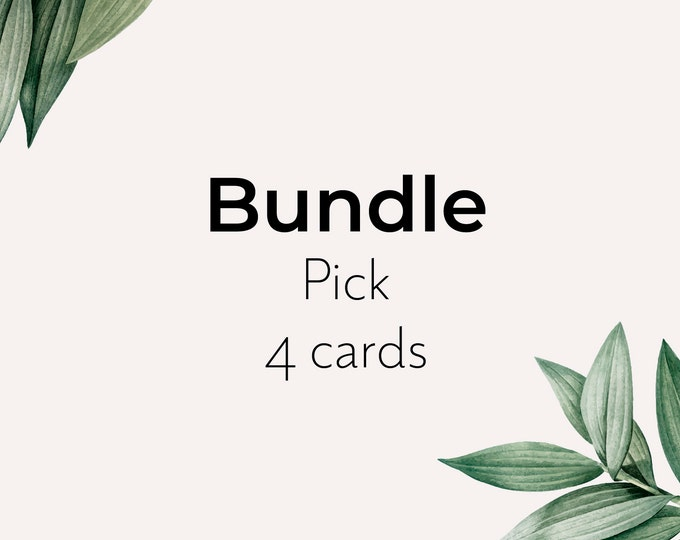 Bundle of seed paper card - pick 4 eco sustainable recyclable cards