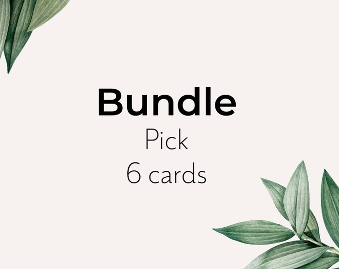 Bundle of seed paper card - pick 6 eco sustainable recyclable cards