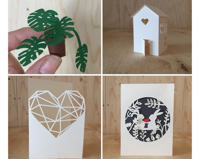 Featured listing image: Papercut DIY kit, Adult Craft Kit, Best Friend Gift