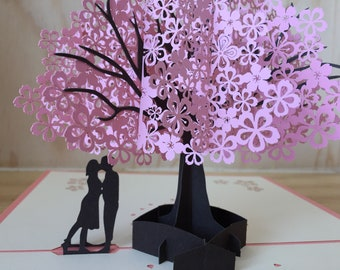 3d greeting card etsy romantic pop up card tree 3d pop up greetings card anniversary pop up i love you pop up card love greeting card anniversary pop up card m4hsunfo