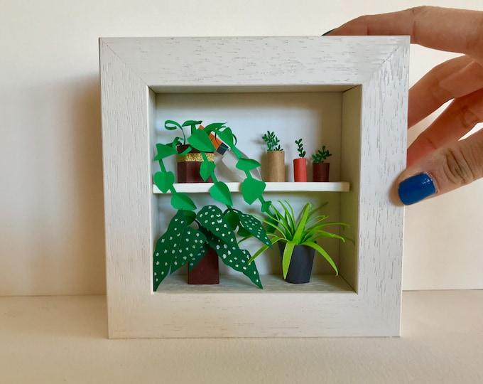 Botanical paper art, paper garden, handmade paper plants