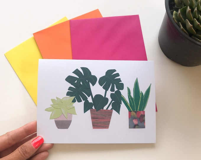 Seed paper eco card, plant printed card