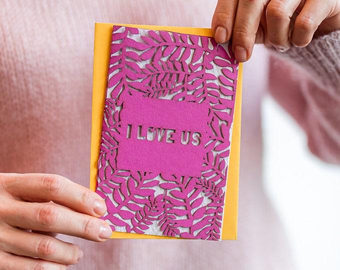 Valentine seed paper eco card, I love us
