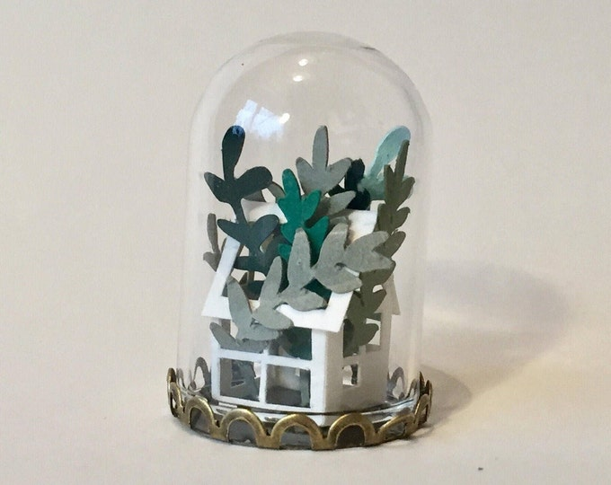 Featured listing image: Paper Greenhouse Miniature Ornament