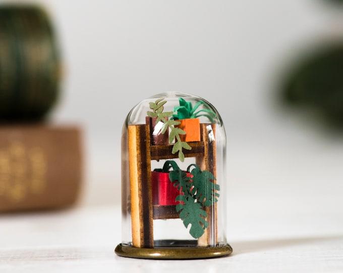 Paper plant miniature ornament, mini paper plant gift