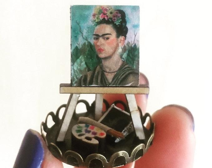 Frida portrait miniature Gift