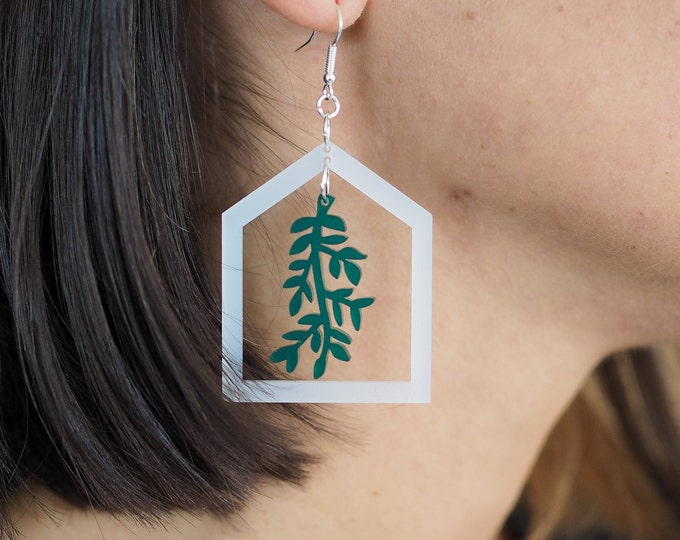 Greenhouse acrylic drop earring