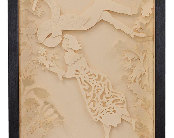 Layered Chagall paper art, paper sculpture