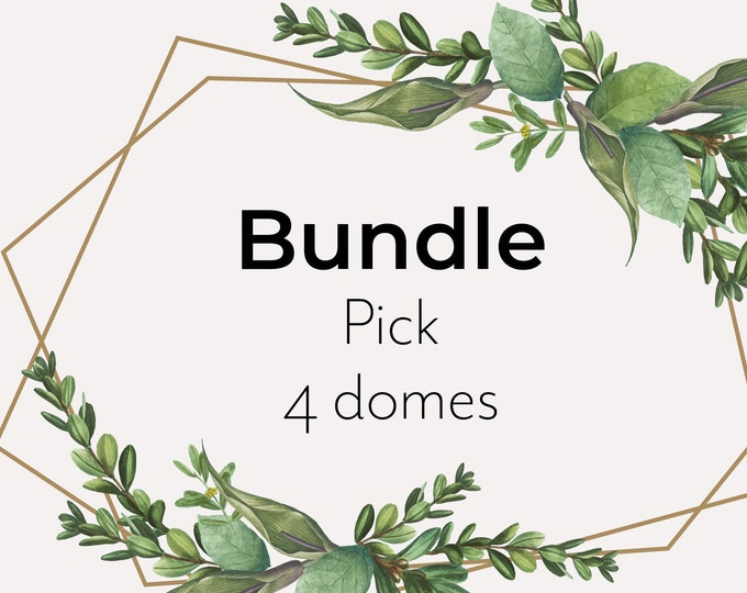 Bundle pick 4 domes, mini paper ornament