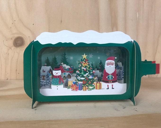 Christmas pop up card, Christmas scene pop-up